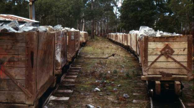 Ida Bay Railway ore wagons